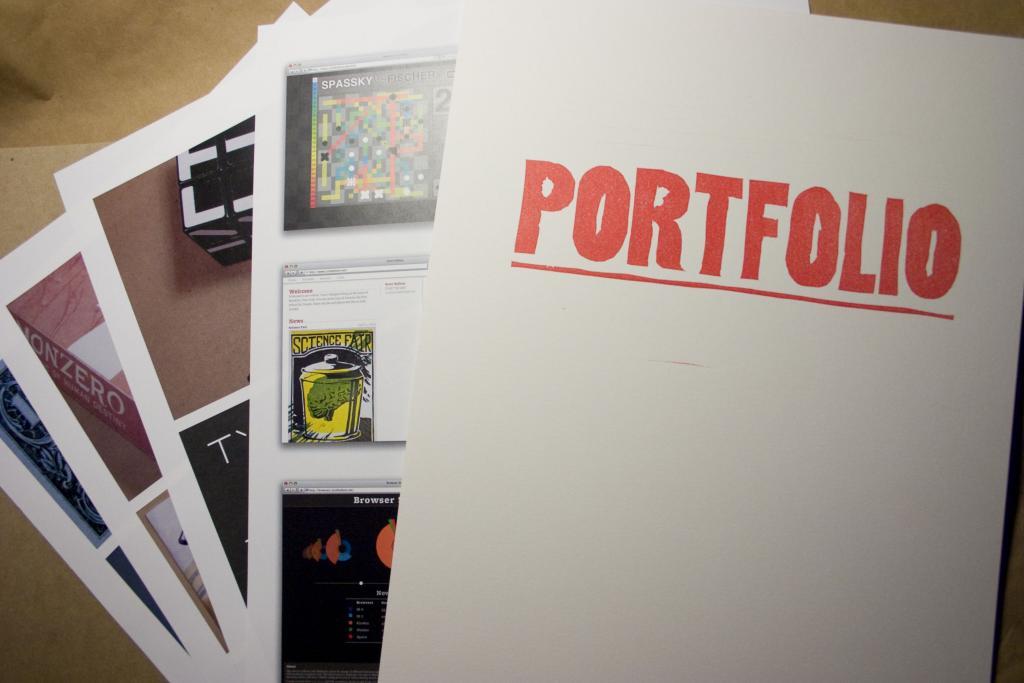 a portfolio of an author